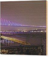 Stunning Istanbul Bridge Wood Print