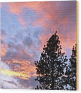 Stunning Spring Sky Wood Print
