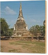 Stupa Chedi Of A Wat In Thailand Wood Print