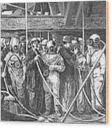 Submarine Divers, 1869 Wood Print