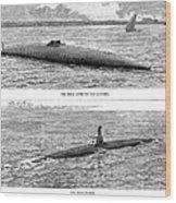 Submarine Launch, 1890 Wood Print