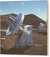 Submillimetre Array Telescopes Wood Print