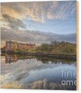 Suburban Sunrise Reflection  Wood Print