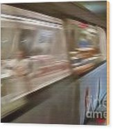Subway Blur Wood Print