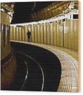 Subway Curve Wood Print