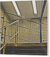 Subway Exit In New York Wood Print