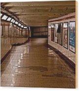 Subway Tunnel Wood Print