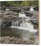 Sucker River Falls 2 A Wood Print