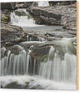 Sucker River Falls 2 F Wood Print