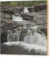 Sucker River Falls 2 G Wood Print