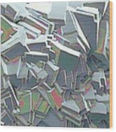 Sucrose Crystals, Sem Wood Print by Steve Gschmeissner