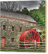 Sudbury - Storm Looms At The Grist Mill Wood Print
