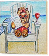 Sudoku At The Beach Wood Print