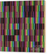 Sudoku Regular Vertical Lines Wood Print