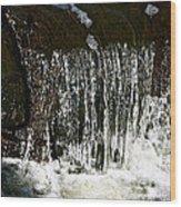 Suds Falls Wood Print