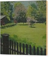 Sue's Yard Wood Print by Mark Haley