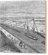 Suez Canal, 1868 Wood Print