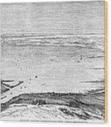 Suez Canal: Lake, 1869 Wood Print