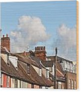 Suffolk Rooftops Wood Print
