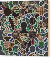 Sufi Pattern 6 Wood Print