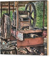 Sugar Cane Mill Wood Print by Tamyra Ayles
