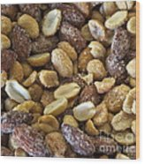Sugar Coated Mixed Nuts Wood Print