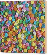 Sugar Confetti Wood Print