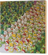 Sugar Figurines For Sale At The Day Wood Print