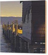 Sugar Pine Point Dock Wood Print