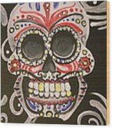 Sugar Skull Wood Print