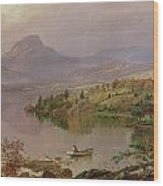 Sugarloaf From Wickham Lake Wood Print by Jasper Francis Cropsey