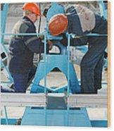 Sukhoi Superjet 100 Assembly Wood Print
