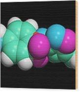 Sulfamethoxazole Molecule Wood Print