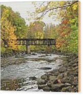 Sulphite Covered Bridge Wood Print