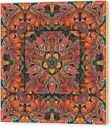 Sumac Autumn Kaleidoscope Wood Print