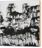 Sumi-e 120726-1 Wood Print