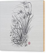 Sumi-e Two Wood Print