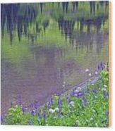 Summer Abstract At Tipsoo Lake Wood Print
