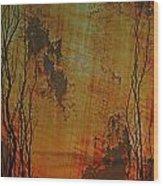 Summer Burn Wood Print