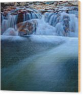 Summer Cascade Wood Print by Chad Dutson