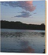 Summer Cloud Reflections Wood Print
