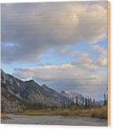Summer Clouds Over Colin Mountain Wood Print