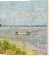 Summer Days At The Lake Wood Print