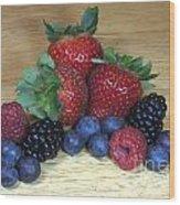 Summer Fruit Wood Print