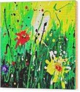 Summer Garden Wood Print