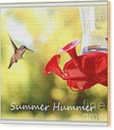 Summer Hummer Poster Wood Print