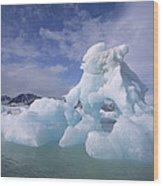 Summer Icebergs, Spitsbergen Island Wood Print