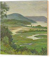 Summer Morning Hudson Highlands Wood Print