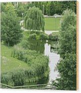 Summer Park In Belgium Wood Print