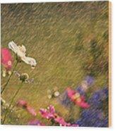 Summer Rain Wood Print